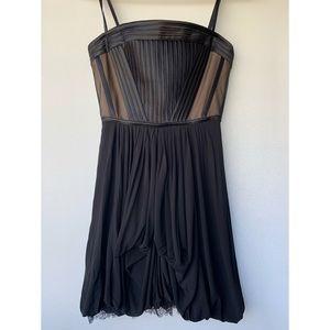 BCBGMaxAzria, Black Reyna Strapless Bustier Dress